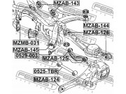 Сайлентблок задней балки Мазда СХ9 MAZDA CX-9 TB 2007-2013 TE712880X TE71-28-80X TD132880XB