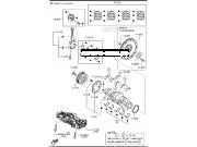 Вкладыши коренные стд Mazda СХ5, 3BM 2.5л скайактив PYY311SG0